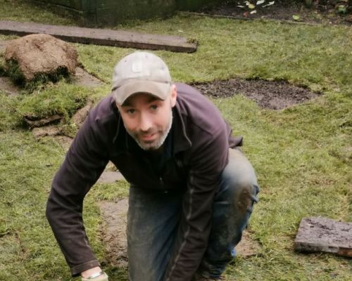 Turfing with drainage - Glasgow